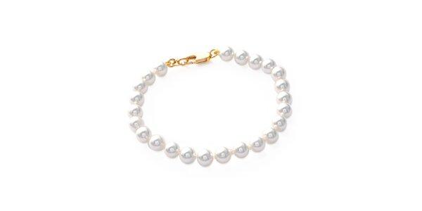 Dámsky pozlátený náramok s perlami Mimossa