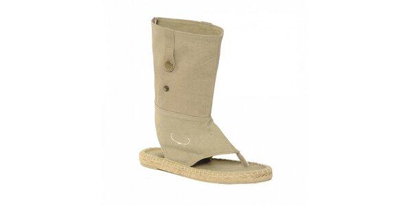 Dámska letná jutová obuv značky Vkingas vo svetlo hnedej farbe