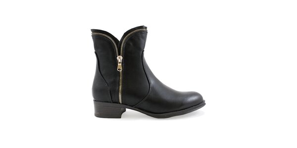 Dámske hnedé topánky so zipsami Ctogo GOGO