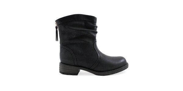 Dámske čierne topánky so zipsom Colorful