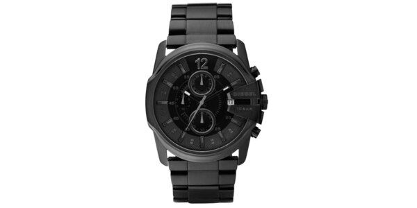 Pánske čierne oceľové hodinky Diesel