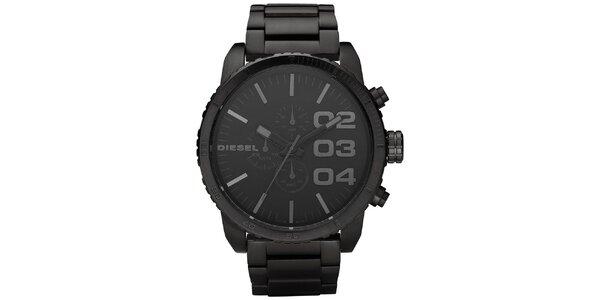 Pánske čierne analógové oceľové hodinky Diesel