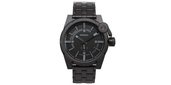 Pánske čierne hodinky Diesel