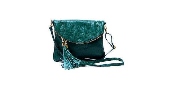 Dámska malá smaragdovo zelená kabelka Renata Corsi
