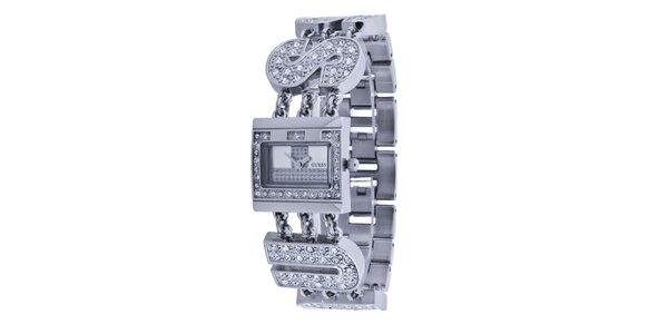 Dámske strieborné náramkové hodinky Guess