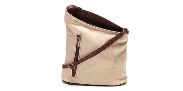 Dámska béžová asymetrická kabelka Renata Corsi