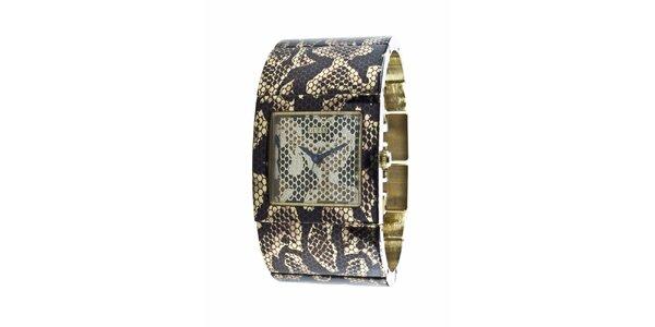 Dámske hodinky Guess s hadím vzorom