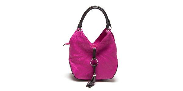 Dámska fuchsiová kabelka so strapcom Renata Corsi