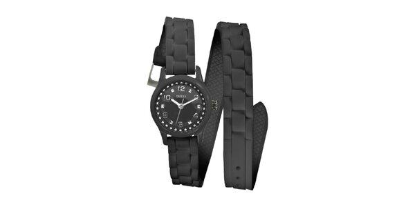Dámske čierne hodinky Guess