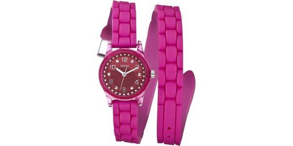 Dámske ružové hodinky Guess