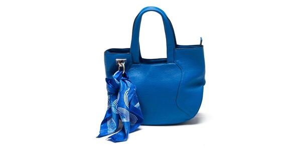 Dámska modrá kabelka so šatkou Renata Corsi
