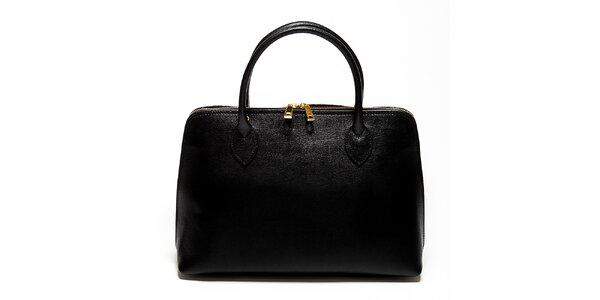 Dámska čierna kabelka z kvalitnej kože Renata Corsi