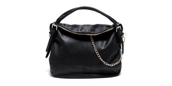 Dámska kožená čierna kabelka Renata Corsi