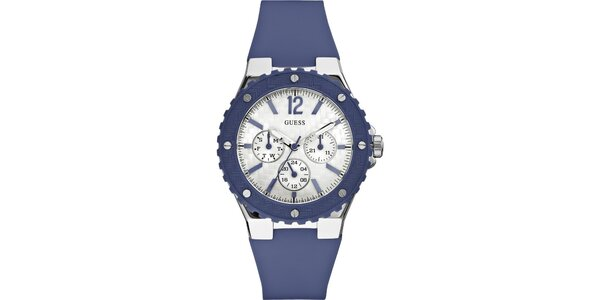 Dámske modré hodinky Guess s chronografom