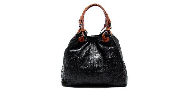 Dámska čierna kabelka so vzorom Renata Corsi