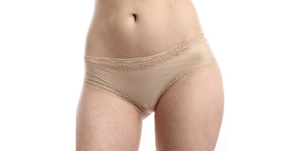 Dámske béžové bodkované nohavičky DKNY