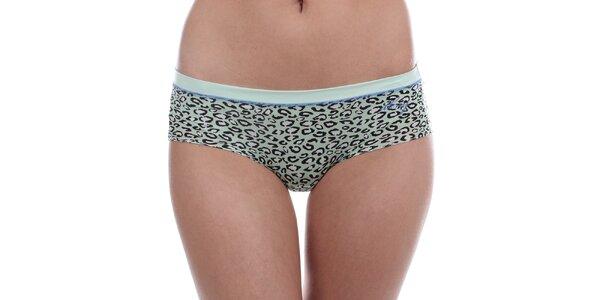 Dámske zelené leopardie nohavičky DKNY