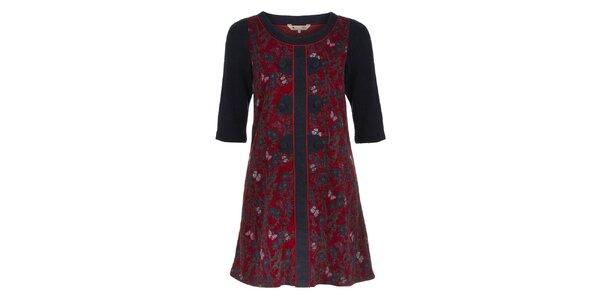 Dámske červeno-čierne orientálne šaty Yumi