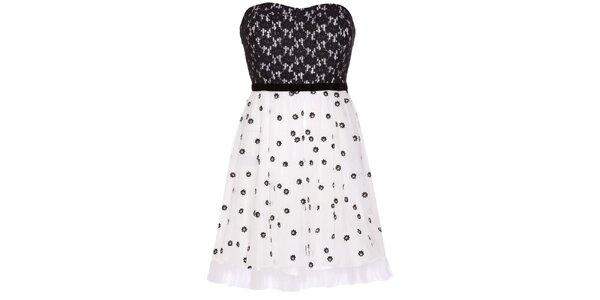 Dámske čierno-biele korzetové šaty Yumi