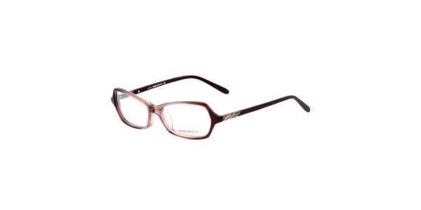 Dámske retro hnedé okuliare Miss Sixty