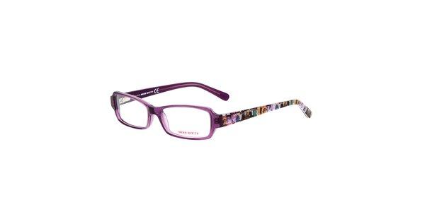 Dámske fialové okuliare s farebnými stranicami Miss Sixty