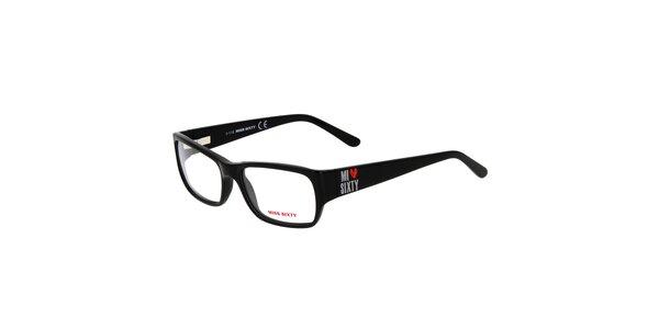 Dámske čierne hranaté okuliare Miss Sixty
