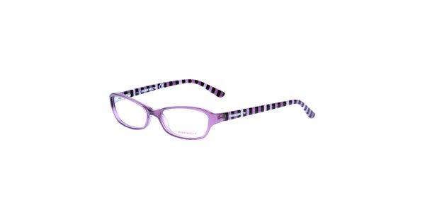 Dámske fialové pruhované okuliare Miss Sixty