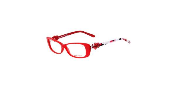Dámske červené rámy s farebnými stranicami Miss Sixty