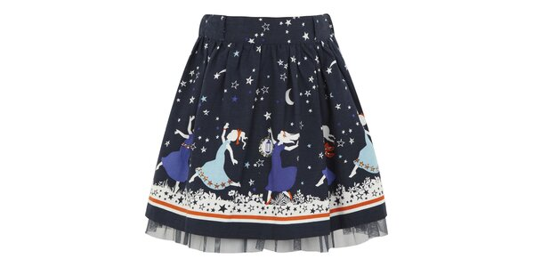 Dievčenská modrá sukňa do pása Uttam Boutique