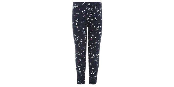 Dievčenské modré legíny s hviezdičkami Uttam Boutique