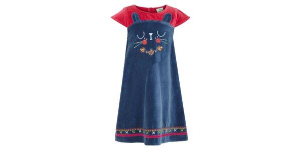 Dievčenské petrolejové šaty s mačičkou Uttam Boutique