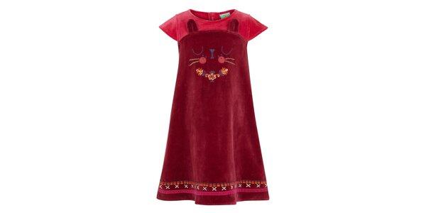 Dievčenské vínové šaty s mačičkou Uttam Boutique