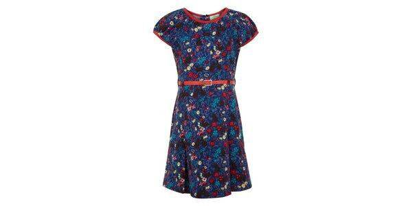 Dievčenské potlačené modré šaty Uttam Boutique