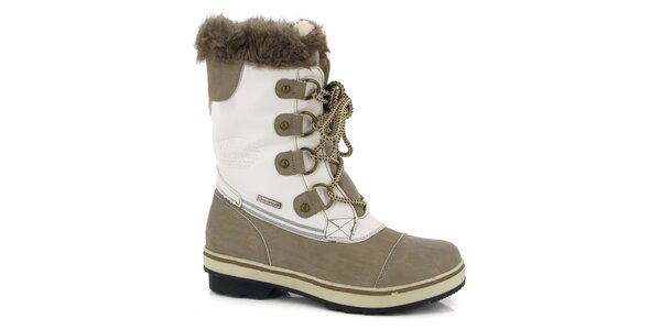 Dámske biele topánky s béžovými detailmi Kimberfeel
