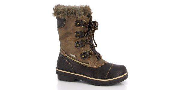 Dámske hnedé topánky so zaväzovaním Kimberfeel