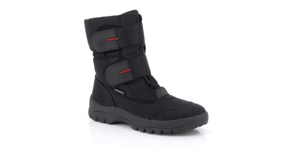 Pánske čierne topánky s remienkami Kimberfeel