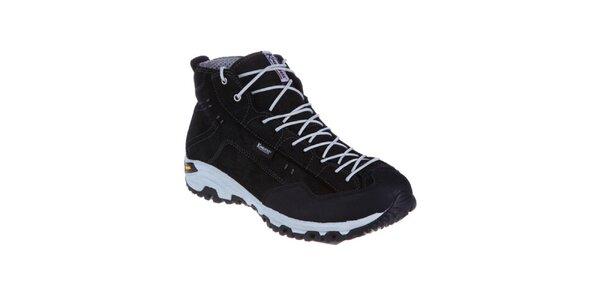Pánske čierne teplé šnurovacie topánky Kimberfeel