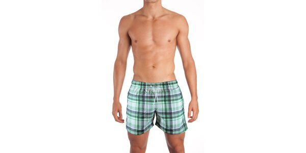 Zelené plavky Mosmann so vzorom