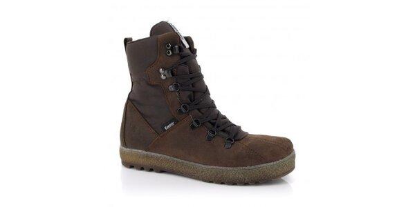 Pánske hnedé šnurovacie topánky Kimberfeel