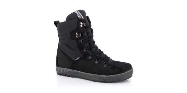 Pánske čierne šnurovacie topánky Kimberfeel