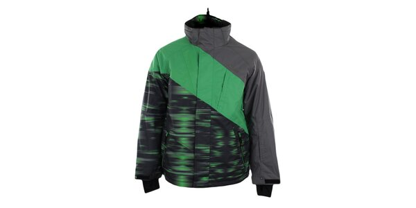 Pánska zeleno-šedá funkčná bunda Trimm
