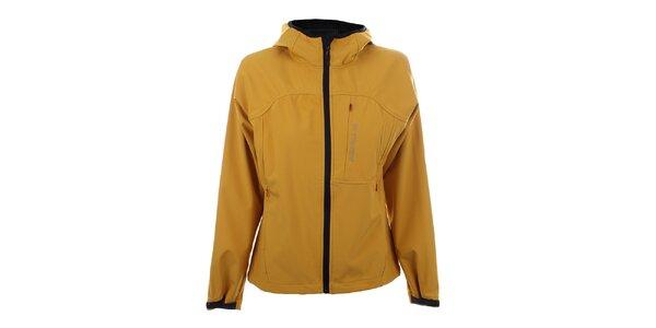 Dámska tmavo žltá softshellová bunda Trimm
