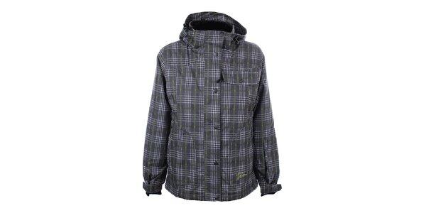 Dámska šedo-zelená kockovaná zimná bunda Trimm