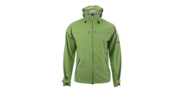 Pánska svetlo zelená softshellová bunda Trimm