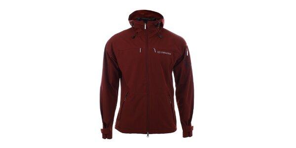 Pánska tmavo červená softshellová bunda Trimm