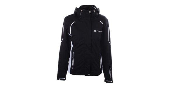 Dámska čierna zimná bunda s bielymi motívmy Trimm