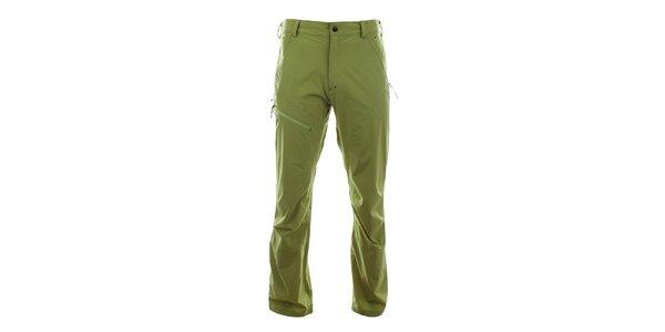 Pánske svetlo zelené funkčné nohavice Trimm