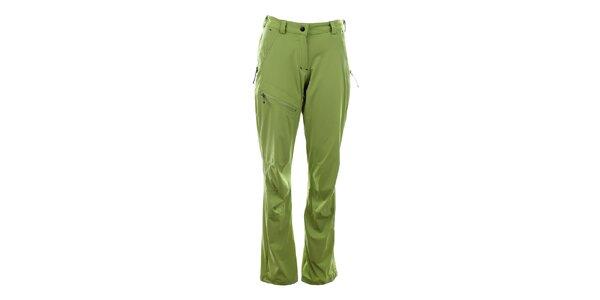 Dámske svetlo zelené funkčné nohavice Trimm
