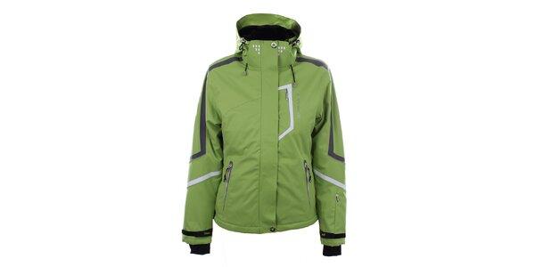 Dámska svetlo zelená lyžiarska bunda Trimm