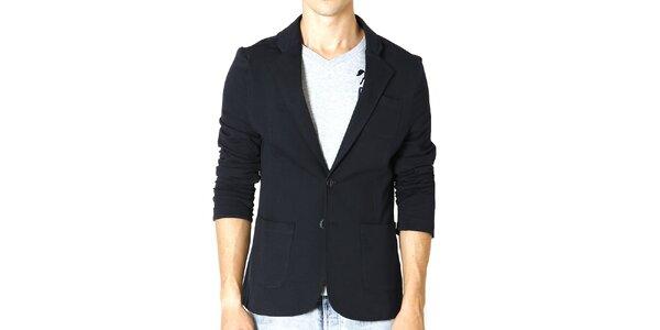 Pánske tmavo modré sako s náprsným vreckom Santa Barbara